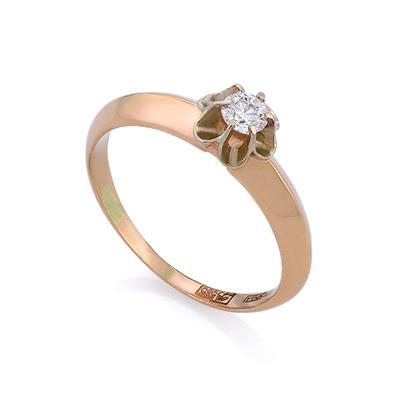 Классическое кольцо с бриллиантом - Кольца на любой вкус