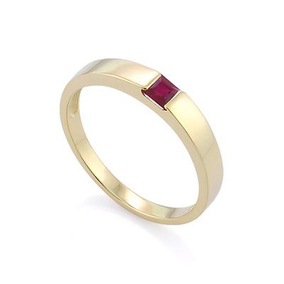 Кольцо с рубином квадрат цена - 18500 рублей