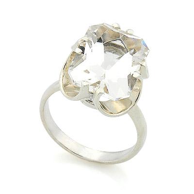 Серебряные кольца с горным хрусталем - Кольца на любой вкус
